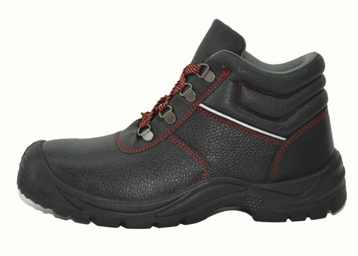 Municipal Services Genuine Leather Work Shoes Black PU Injection Outsole